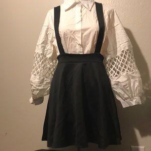 Windsor Black suspender Skirt NWT Large